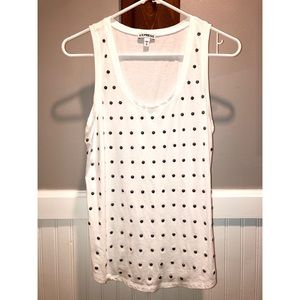 Express | White Studded Tank Top M
